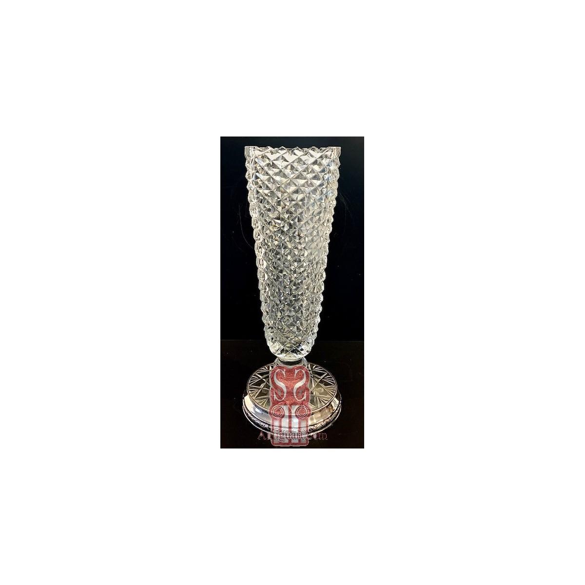 Triangular glass vase mid-20th