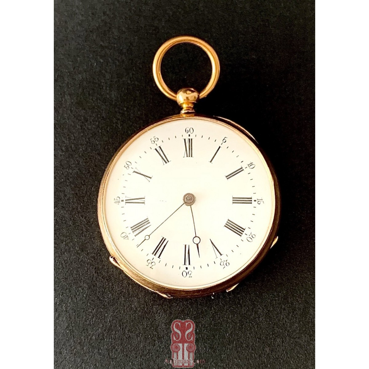 18-karat gold pocket watch 19th