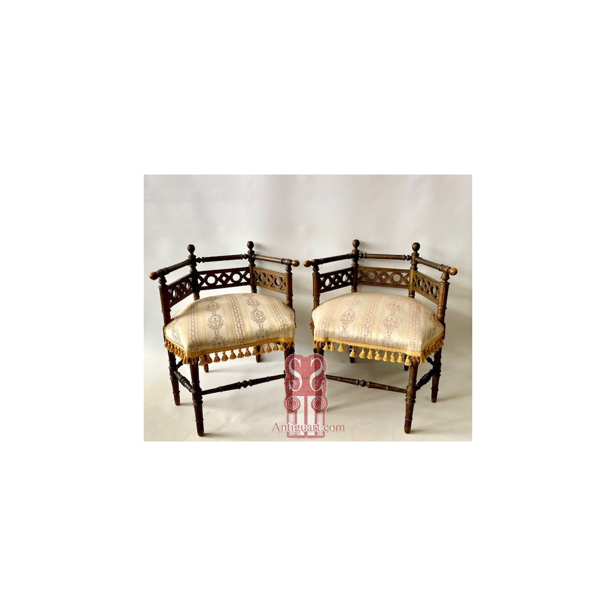Pair of early 20th armchairs