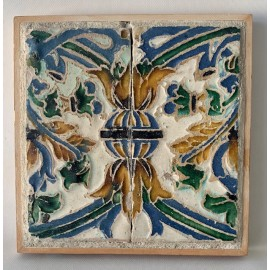 Pair of tiles from the 16th century, Sevilla Spain