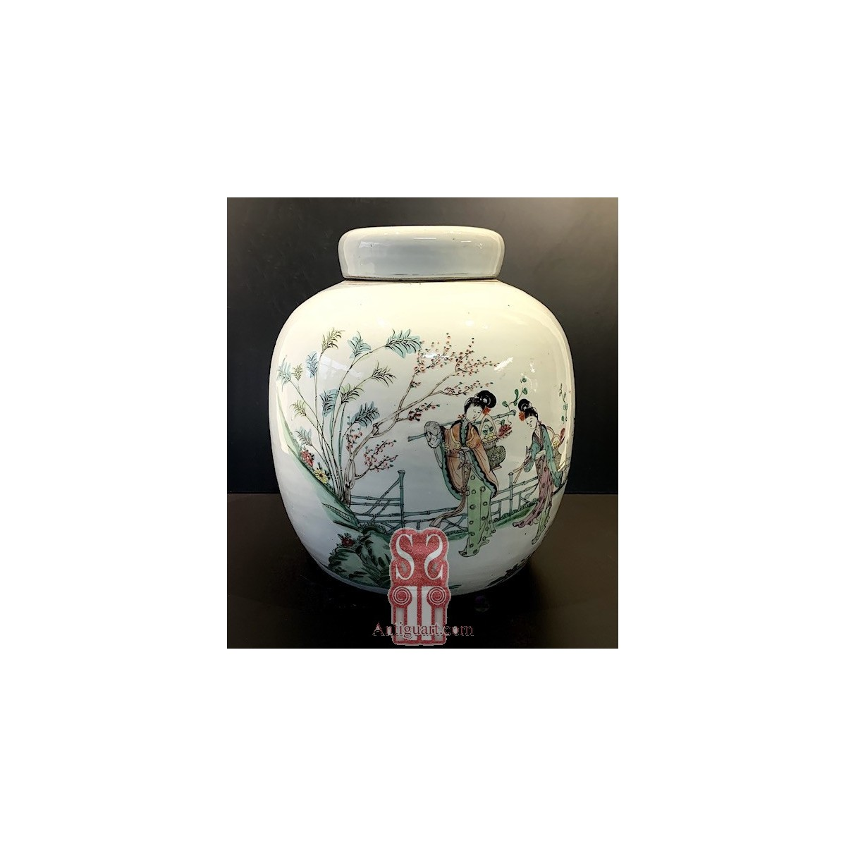 Chinese porcelain vase, 19th, Qing dynasty