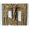 Orthodox bronze crucifix, Russia,  19th