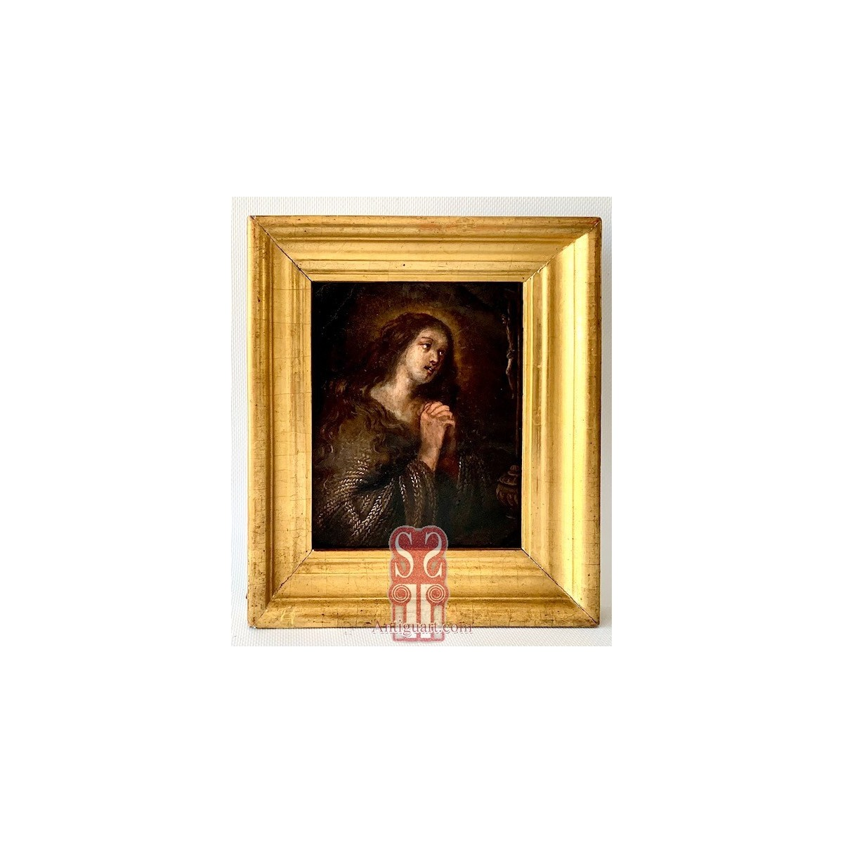 Penitent Mary Magdalene, 17th oil on copper