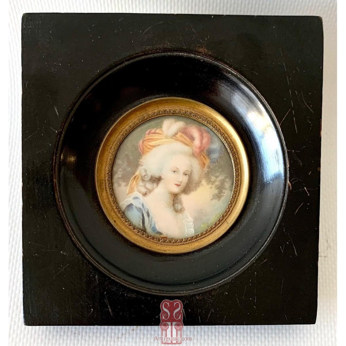 Portrait of a woman, Miniature19th