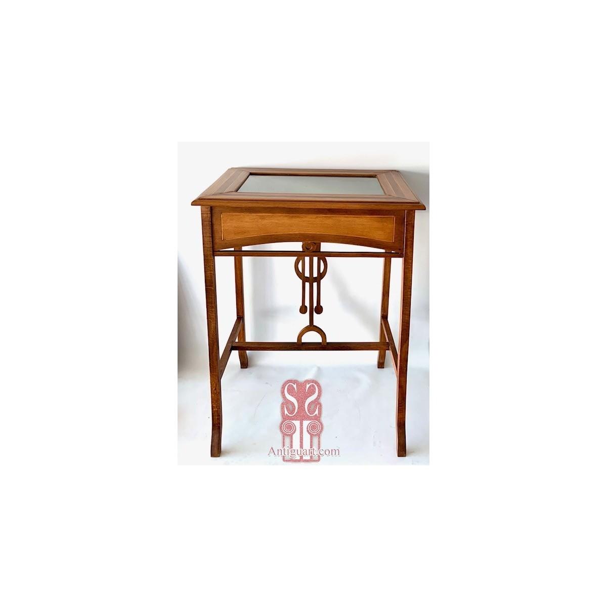Art nouveau showcase table.