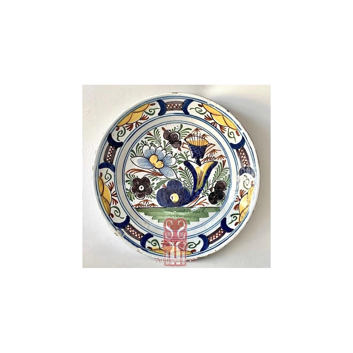 Delft ceramic plate 18th