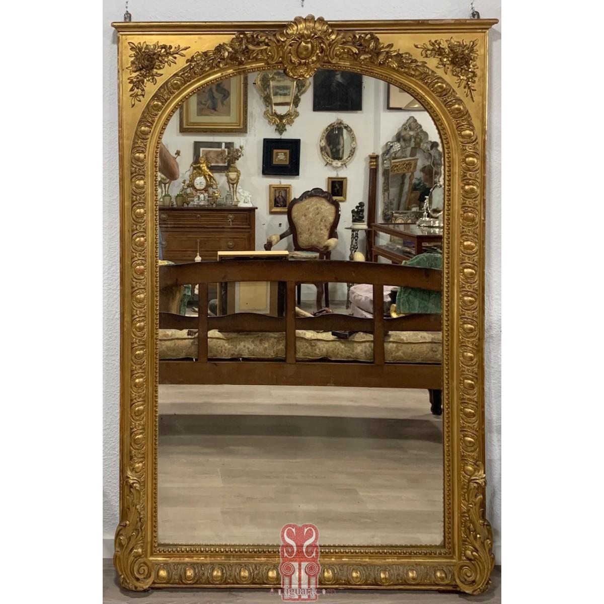 Large gilt mirror 19th