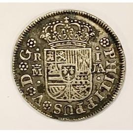 Moneta d'argento 1 real 1742, Felipe V