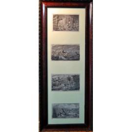 Cuatro labores, grabado del siglo XIX.