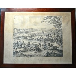 Stampa del XVIII secolo, battaglia delle dune.
