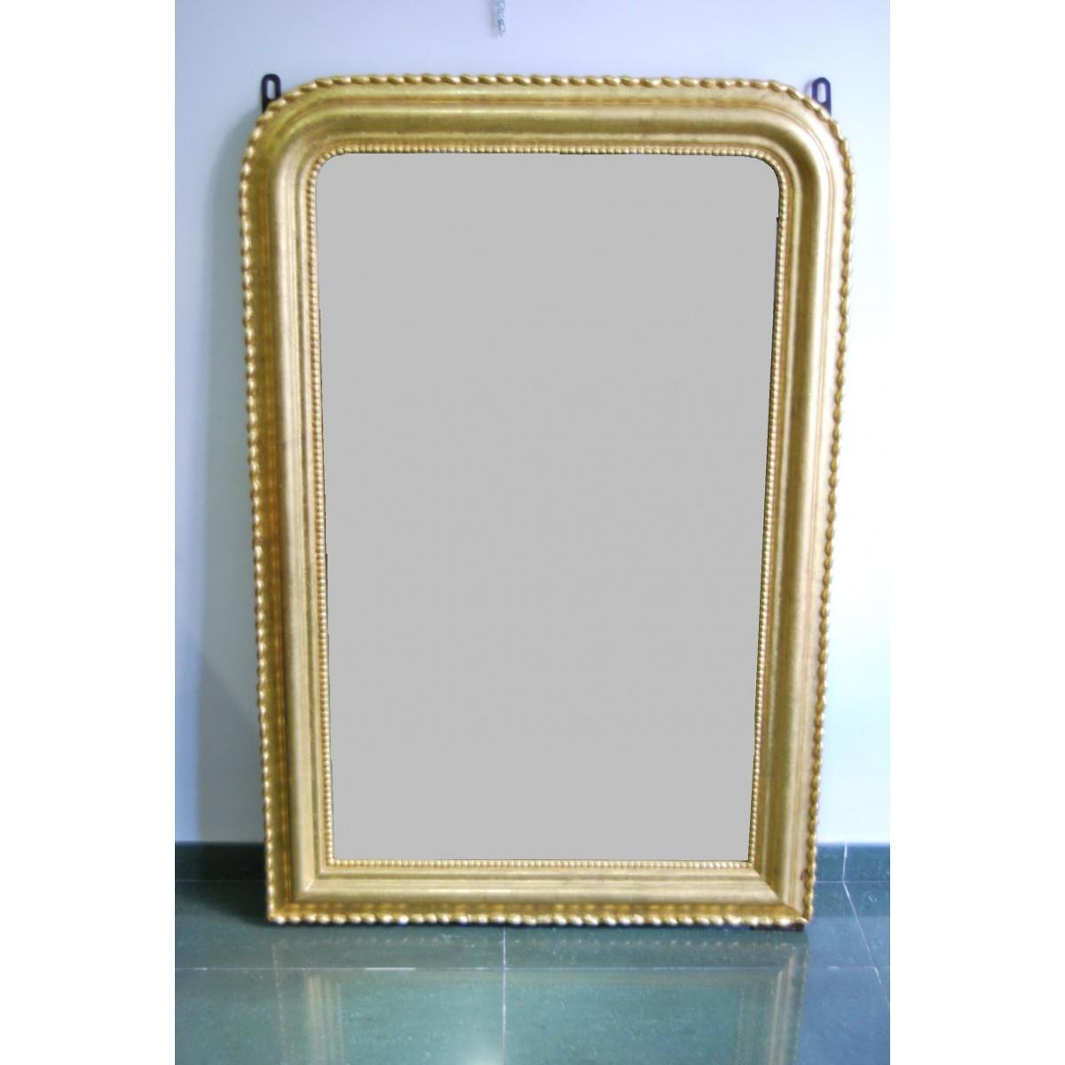 Espejo de la mitad del siglo XIX, dorado.