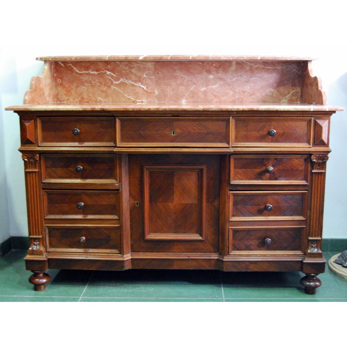 Mueble tocador de finales del siglo XIX.