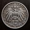 2 marcos alemanes de 1904, plata.