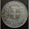 5 lire de 1874, Rey Vittorio Emanuele II, plata.
