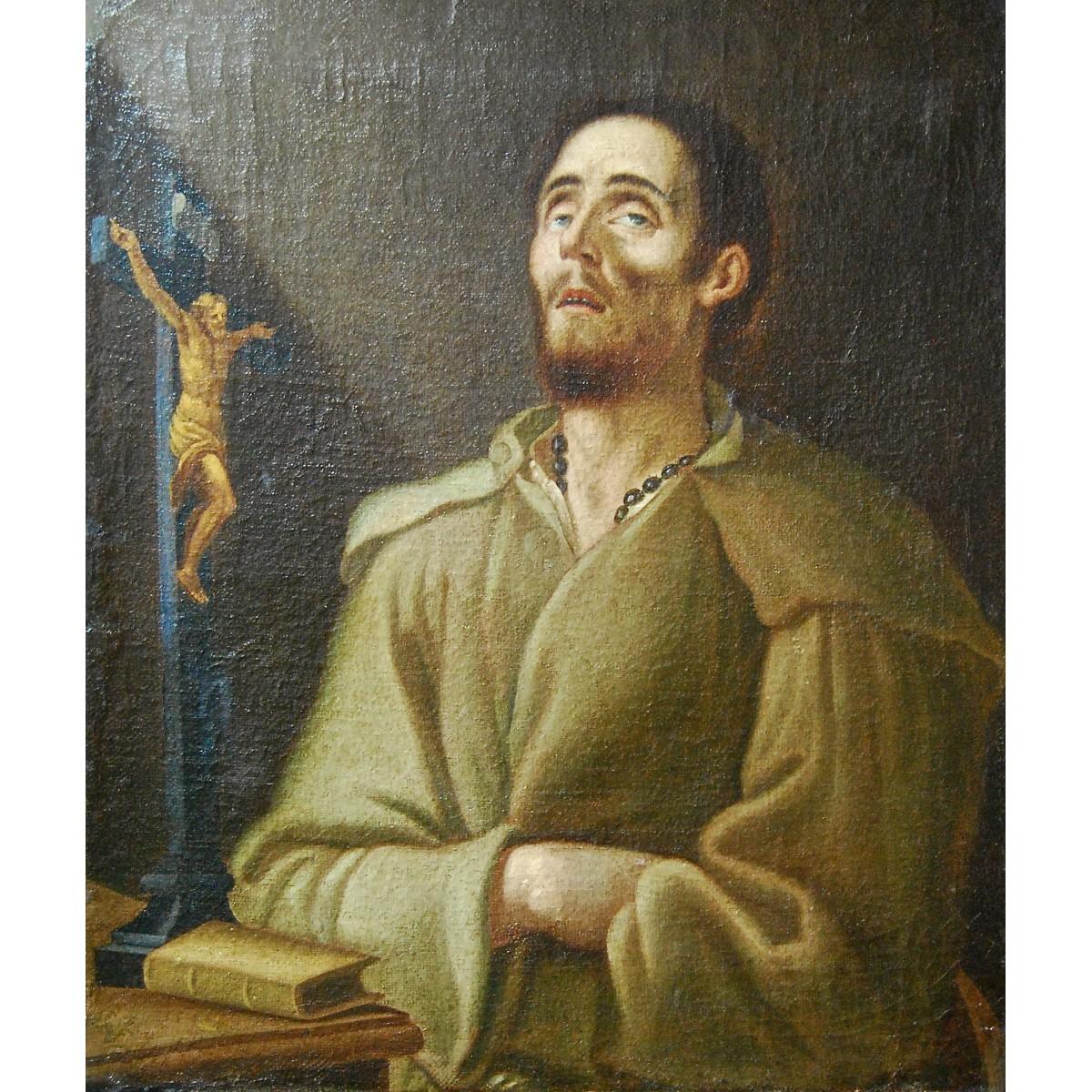 Éxtasis de San Francisco, óleo sobre lienzo de la mitad del siglo XVII.