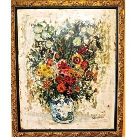 José Palmeiro, bodegón floral.