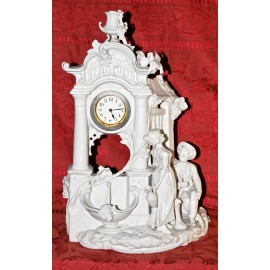 Reloj de biscuit francés de principio del siglo XX .
