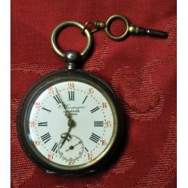 Orologio da tasca d'argento, del XIX secolo.
