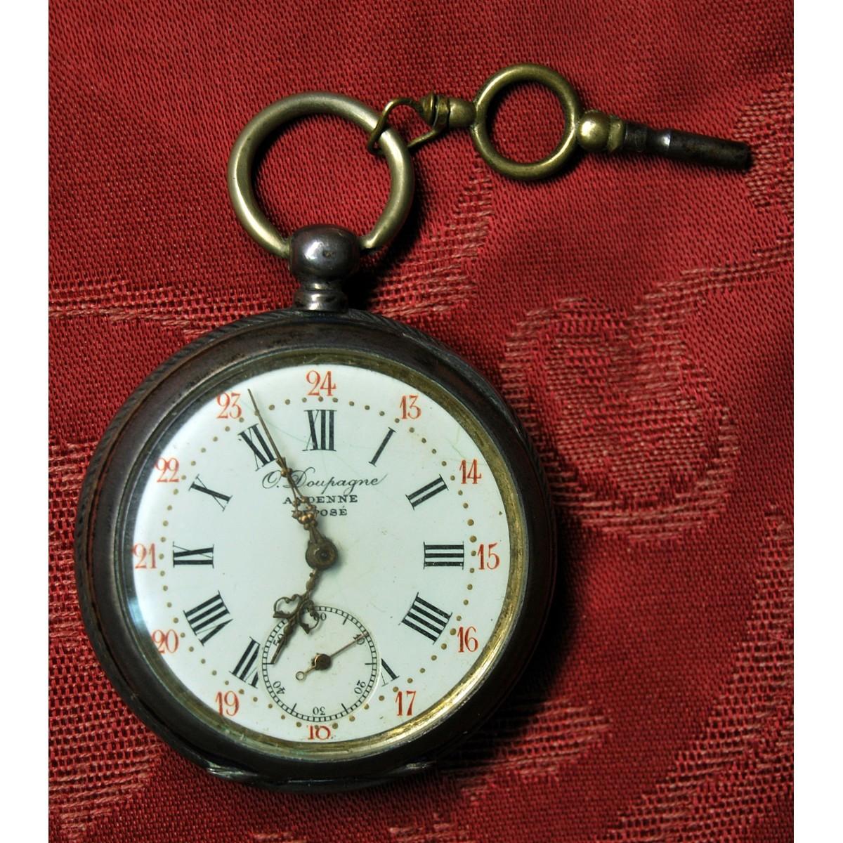 Reloj de bolsillo de plata, finales del siglo XIX.