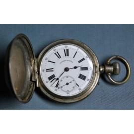Reloj de bolsillo de plata, mitad del siglo XIX