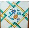 Azulejo valenciano del siglo XVIII.