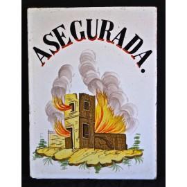 "Azulejo valenciano ""asegurada"""