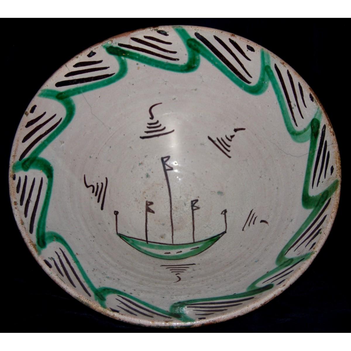 Cuenco de cerámica de Teruel.