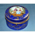 Cajita redonda, cerámica.