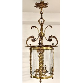 ANTIQUE CHANDELIERS AND CEILING LAMPS